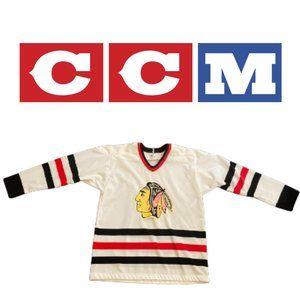 Vintage Maska Superfil Hawks Jersey - Youth Large